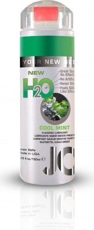Ароматизированный любрикант на водной основе JO Flavored Cool Mint H2O 160 мл, фото 4