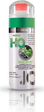 Ароматизированный любрикант на водной основе JO Flavored Cool Mint H2O 160 мл, фото 5