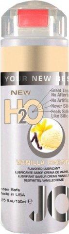 Ароматизированный любрикант на водной основе JO Flavored Vanilla H2O 160 мл