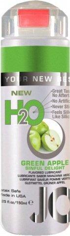 Ароматизированный любрикант на водной основе JO Flavored Green Apple H2O 160 мл