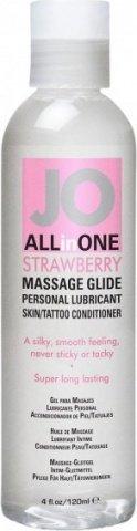 Массажный гель-масло ALL-IN-ONE Massage Oil клубничный 120 мл, фото 2
