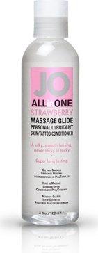 Массажный гель-масло ALL-IN-ONE Massage Oil клубничный 120 мл, фото 3