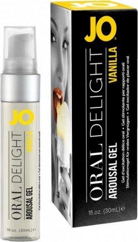 Лубрикант для оральных ласк Oral Delight - Vanilla Thrill ванильный 30 мл, фото 2