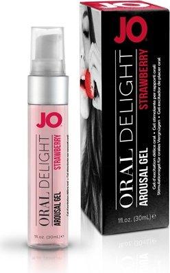 Лубрикант для оральных ласк Oral Delight - Strawberry Sensation клубничный 30 мл, фото 3