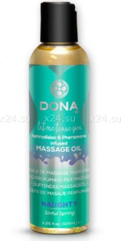 Массажное масло dona scented massage oil naughty aroma: sinful spring 125 мл