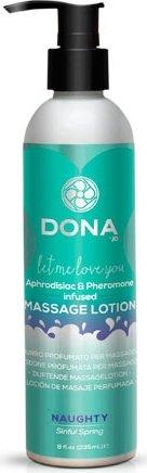 Увлажняющий лосьон для массажа dona massage lotion naughty aroma: sinful spring 235 мл, фото 2