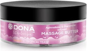 Увлажняющий крем-масло для массажа dona massage butter sassy aroma: tropical tease 115 мл