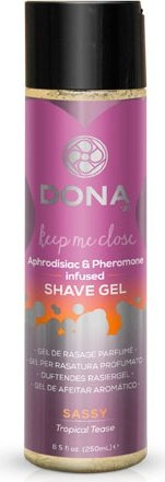 Гель для душа и бритья dona shave gel sassy aroma: tropical tease 250 мл, фото 2