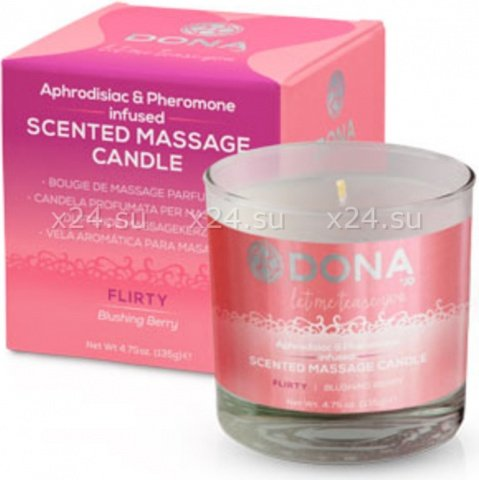 Массажная свеча Dona Scented Massage Candle Flirty Aroma Blushing Berry, фото 2