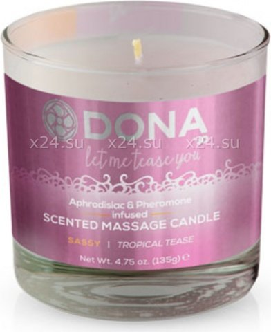 ��������� ����� dona scented massage candle sassy aroma: tropical tease 135 �
