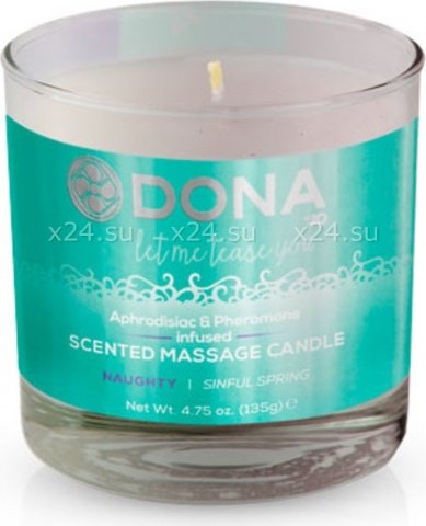 Массажная свеча dona scented massage candle naughty aroma: sinful spring 135 г