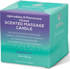 Массажная свеча dona scented massage candle naughty aroma: sinful spring 135 г, фото 2