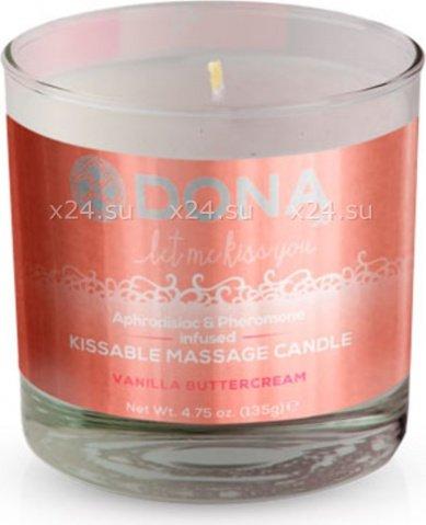 ��������� ����� ��� �������� ���� Dona Kissable Massage Candle Vanila Buttercream
