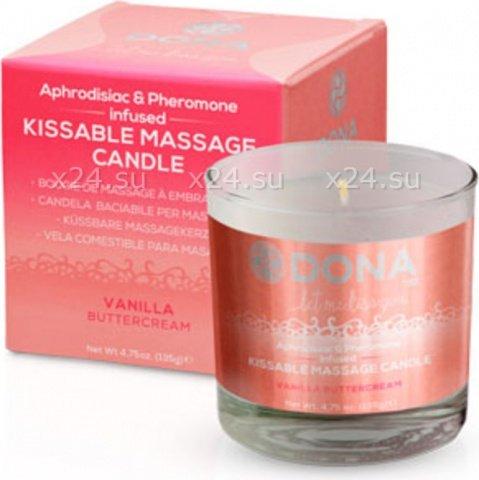 ��������� ����� ��� �������� ���� Dona Kissable Massage Candle Vanila Buttercream, ���� 2
