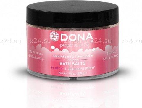 Соль для ванны dona bath salt flirty aroma: blushing berry 215 г