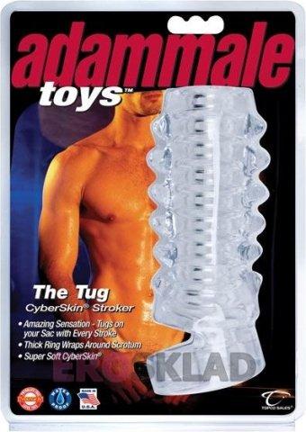 Открытая насадка на член Adam Male Toys The Tug CyberSkin Stroker, фото 3