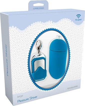 ������������ vibrating egg pleasure shiver large blue t4l-801009, ���� 5