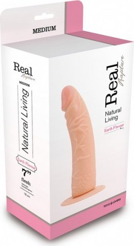 Фаллоимитатор dildo real rapture flesh 7 inch t4l-00700681 20 см, фото 3