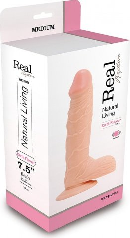 Фаллоимитатор real rapture flesh 7.5 inch t4l-00700682 22 см, фото 3