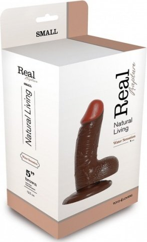 Фаллоимитатор realistic dildo real rapture brown 5 t4l-00700688 15 см, фото 2