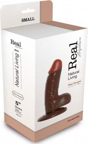 Фаллоимитатор realistic dildo real rapture brown 5 t4l-00700688 15 см, фото 2