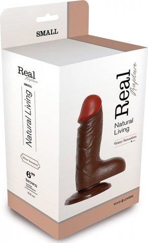 Фаллоимитатор realistic dildo real rapture brown 6 t4l-00700689 17 см, фото 2