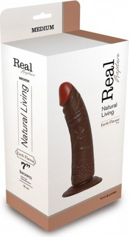 Фаллоимитатор realistic dildo real rapture brown 7 t4l-00700691 20 см, фото 2