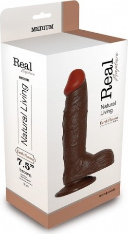 Фаллоимитатор realistic dildo real rapture brown 7.5 t4l-00700692 21 см, фото 2