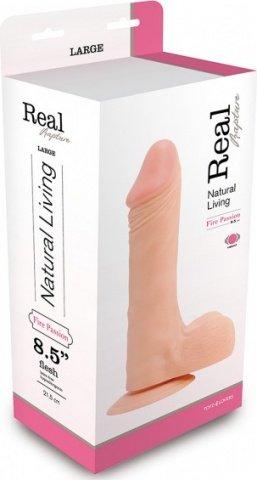 Вибратор realistico real rapture flesh 8.5'' t4l-903014 24 см, фото 2