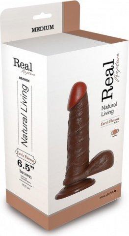 вибратор real rapture vibe brown 6.5' t4l-903018 14 см, фото 3