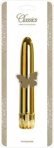 Вибратор classic gold large t4l-903078, фото 3