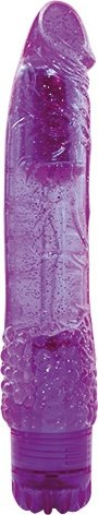 Вибратор jammy jelly spangly glitter purple t4l-903084 23 см, фото 3