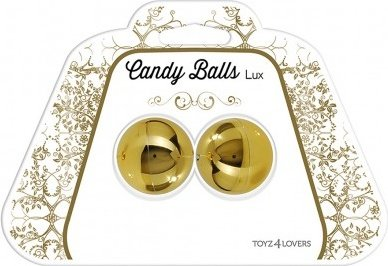 Вагинальные шарики candy balls lux gold t4l-00801366, фото 3