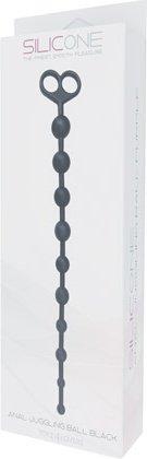 Анальный стимулятор juggling ball черный t4l-700915, фото 2