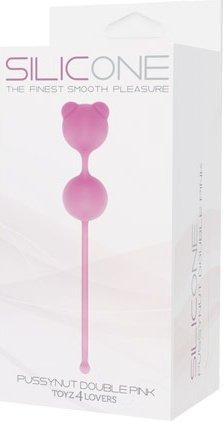 Вагинальные шарики Pussynut double розовые T4L--801774, фото 2