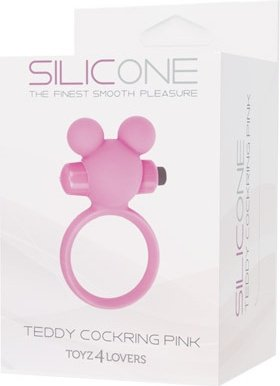Эрекционное виброкольцоTeddy розовое T4L-801785, фото 2