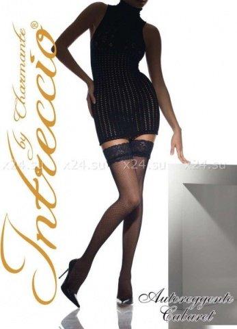 Cabaret, чулки, сетка, черные, размер L/XL