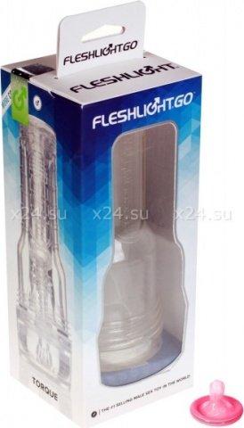 Рельефный мастурбатор в виде фонарика torque 7, фото 2