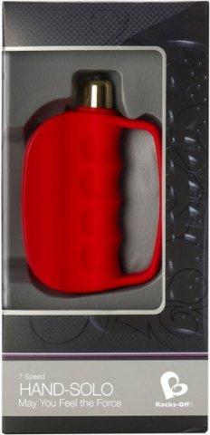 Мастурбатор открытого типа - Hand Solo, красный, фото 3