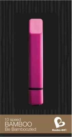 Вибропуля - Rocks-Off - Bamboo Pink Passion - Vibrator - Bullet vibrator, фото 3