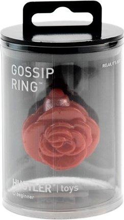 Красное кольцо-цветок на палец с вибрацией gossip ring, фото 3