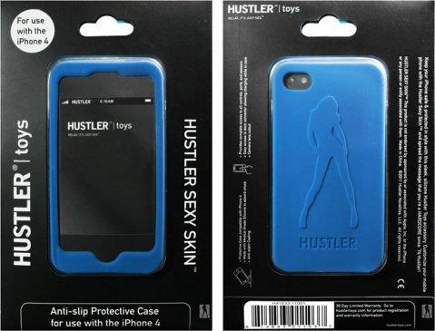 Синий силиконовый чехол hustler для iphone 4,4s