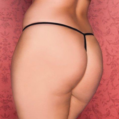 Нежные трусики-стринги черные, фото 2
