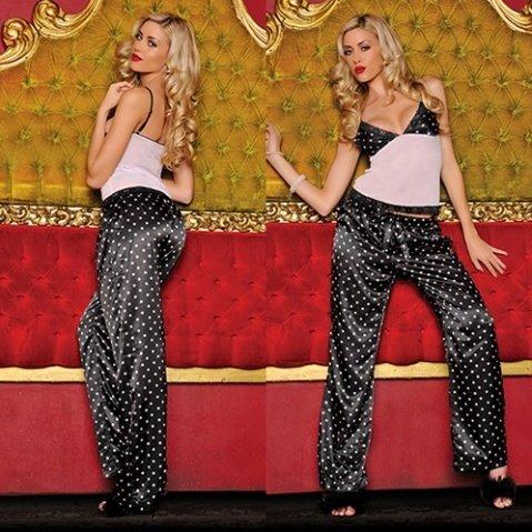 Секси-пижама штанишки и топ Горох S