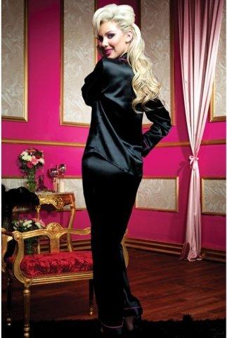 Секси-пижама штанишки и рубашка черная L