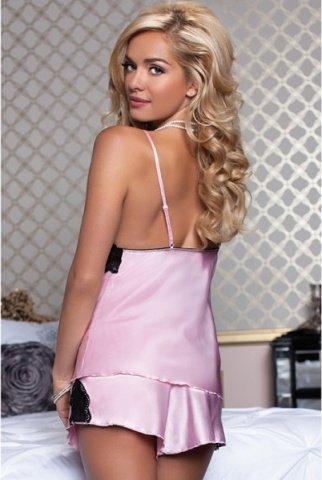 Очаровательные сорочка и шортики нежно-розовые XL, фото 3