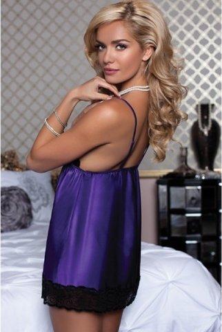 Очаровательный атласный бэби-долл фиолетовый S, фото 3