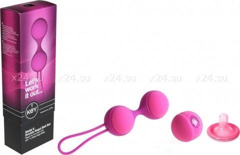 Вагинальные шарики (3 шт.) Key by Jopen - Stella II - Raspberry Pink розовые, фото 2