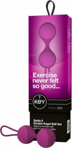 Вагинальные шарики (3 шт.) Key by Jopen - Stella II - Raspberry Pink розовые, фото 4