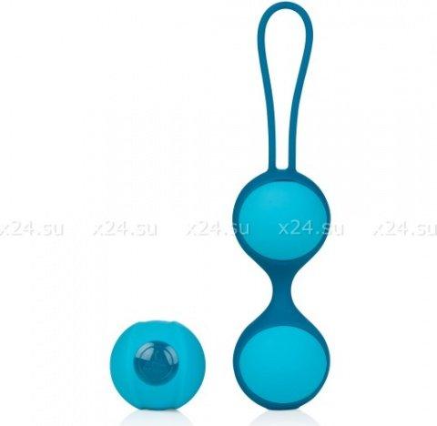 Вагинальные шарики дуэт stella ii со сменным грузом бирюзовые